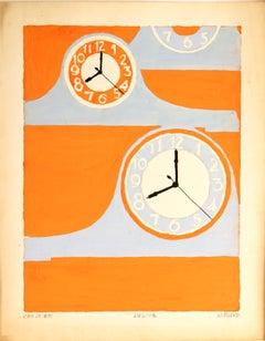 Untitled: Clocks 2 (2nd Year in Orange)
