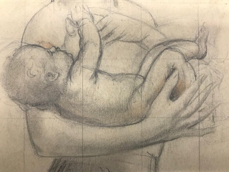 Untitled (Mother Holding Baby) - Academic Art by John Gilroy