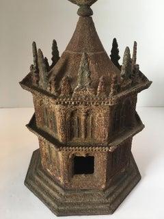 Octagon Cast-Iron Birdhouse by Miller Iron Co.