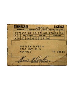 Elvis's Tennessee Operators License