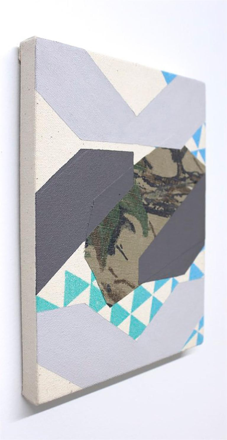 Hold on Tight - Abstract Geometric Mixed Media Art by Alex McClurg