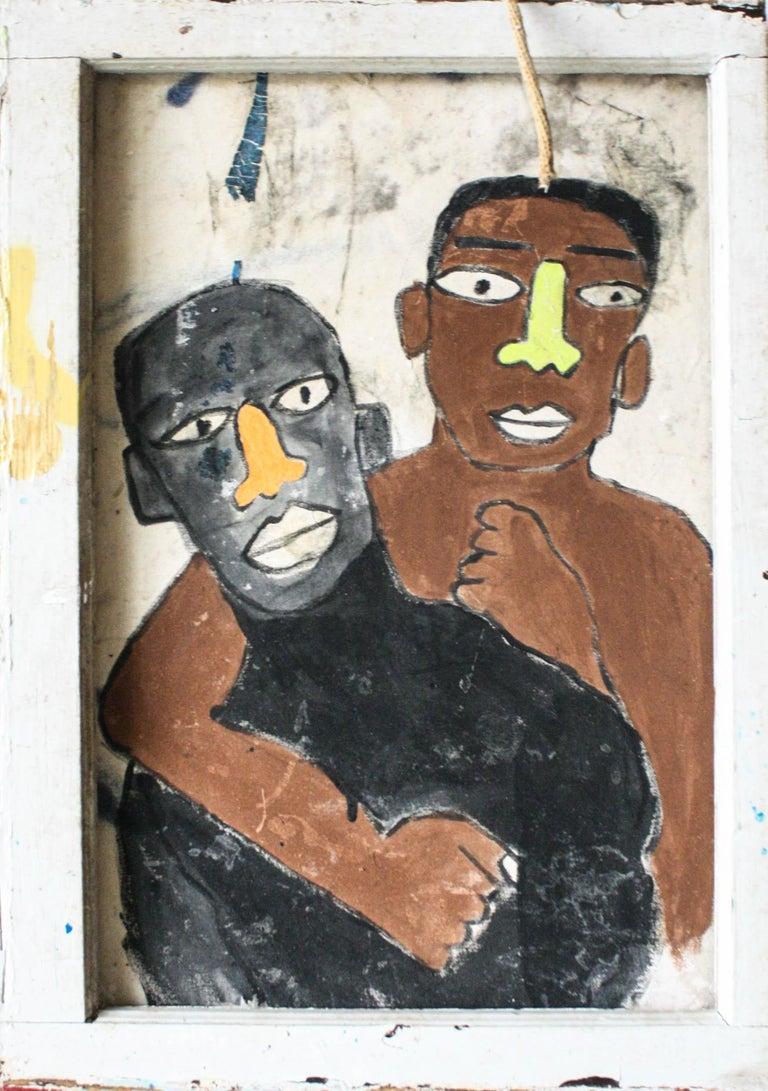 Marlos E'van Figurative Painting - Tongues Untied (RIP Marlan Riggs)