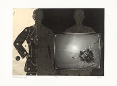Elvis's TV with Bullet Hole