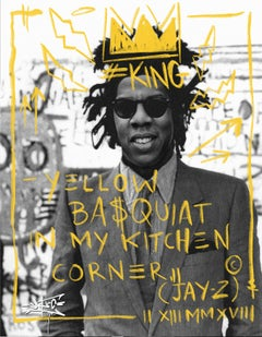 YELLOW BASQUIAT IN MY KITCHEN CORNER!
