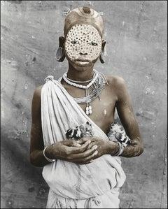 Nakoro (13), Suri, Ethiopia, Silver Gelatine, Photography, Contemporary