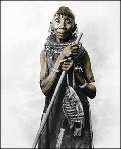 Tunzala (65), Turkana, Kenya, Silver Gelatine, Photography, Contemporary