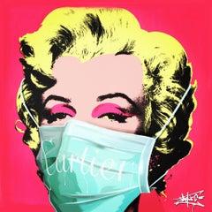 Social Status in Corona times I, Marilyn Monroe, Street Art, Pop Art,