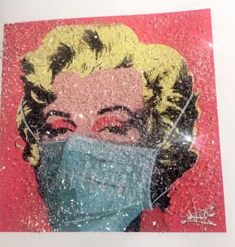 Social Status in Corona times I, Marilyn Monroe, Street Art, Pop Art,  - Print by Jay-C