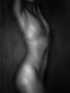 Silver Nude, Nude, woman, black and white photography