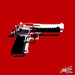 Bigger Guns, Street Art, Pop Art, Wolf, Wall Street