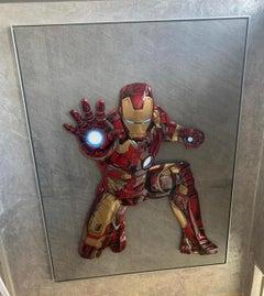 Iron Man, Mixed Art, Pop Art, Steel, Marble, 3D