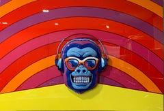 Ape, Mixed Art, Pop Art, Steel, 3D