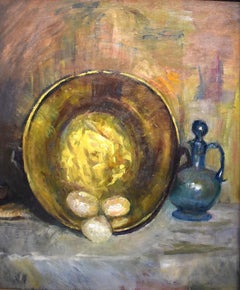 """Brass Plate with Eggs"""