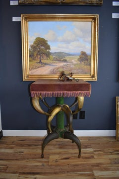 Charles B Fletcher St. Louis Horn Furniture Maker Rare Horn Table Original 1880s