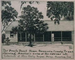 """The Peach Point Home"" Brazoria County Texas. Stephen F. Austin's Home. Back"