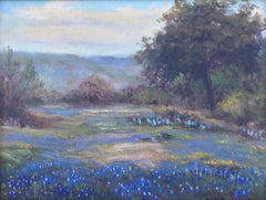"""TEXAS BLUEBONNETS""  IN THE TEXAS HILL COUNTRY"