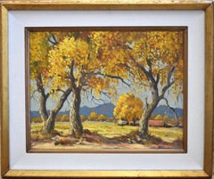 """Cottonwoods at Peralta"" New Mexico     Fall Scene"