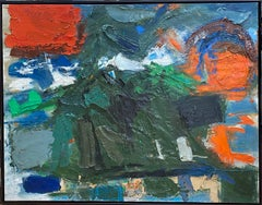 """ SUNSET AND OCEAN ""  1958 TEXAS ABSTRACT DALLAS ARTIST"