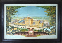 LONE STAR BEER BREWERY LITHOGRAPH. DATED 1903. LARGE SAN ANTONIO TEXAS BEER