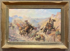 """""""CATTLE DRIVE""""  WESTERN TEXAS EL PASO ARTIST COWBOYS CANYON ROUNDUP 1940s HORSES"""