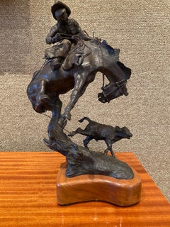 """""""BRONCS AND ROPES DON'T MIX""""  WESTERN BRONC COWBOY ARTISTS OF AMERICA"""