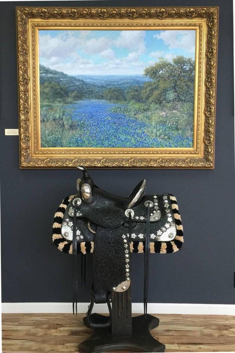 EDWARD BOHLIN 1930S SILVER MOUNTED PARADE SADDLE  HOLLYWOOD WESTERN ARTIST  For Sale 1