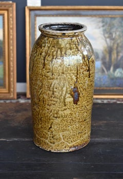 Milligan Frazier (Slave) Texas Utilitarian Art Pottery 2 gallon Jar Ash Glazed