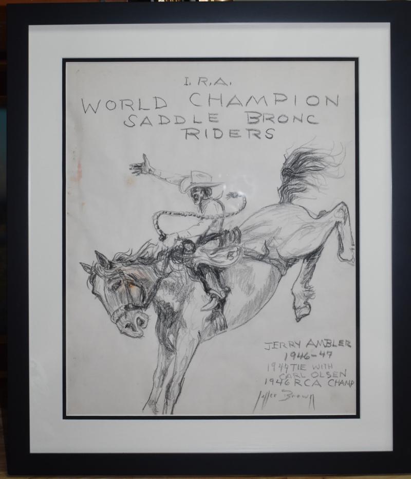 """I.R.A. WORLD CHAMPION SADDLE BRONC RIDERS"""