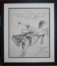 """I.R.A. WORLD CHAMPION SADDLE BRONC RIDERS"""