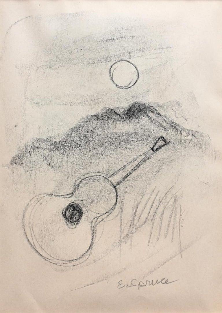 "Everett Spruce Landscape Art - ""Guitar Landscape""  Texas"