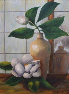 """""""Magnolia Bloom Still Life"""" by Howard Hughes Tool General Manager Vice President"""