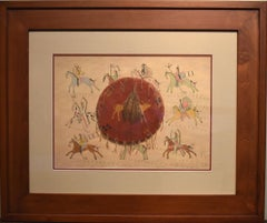 """Battle Field Memories"" Taken from Indian Cliffs & Cave Drawings Native American"