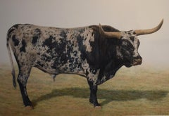 """Blanco Y Negro Jefe"" Awesome Longhorn Painting"