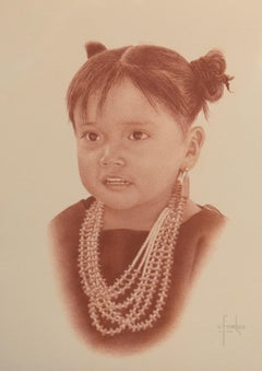 """Hopi Girl"" Native American Young Girl Indian Girl"
