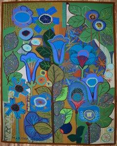 Azul, Azul MCM Mid Century Modern Tapestry Large   Texas Artist