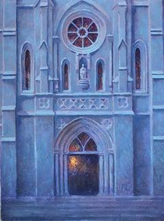 """San Fernando Cathedral Moonlight"" San Antonio Texas Landmark"