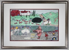 """COTTON FARM"" BLACK TEXAS FOLK ART ARTIST JOHNNY BANKS"
