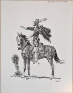 """""""Conquistador"""" Drawing EL PASO ARTIST"""