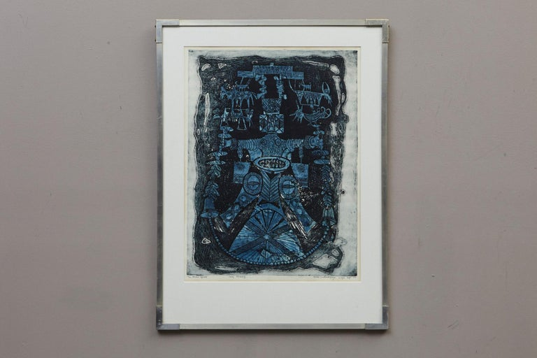 Abiku Spirit - Contemporary Print by Bruce Onobrakpeya