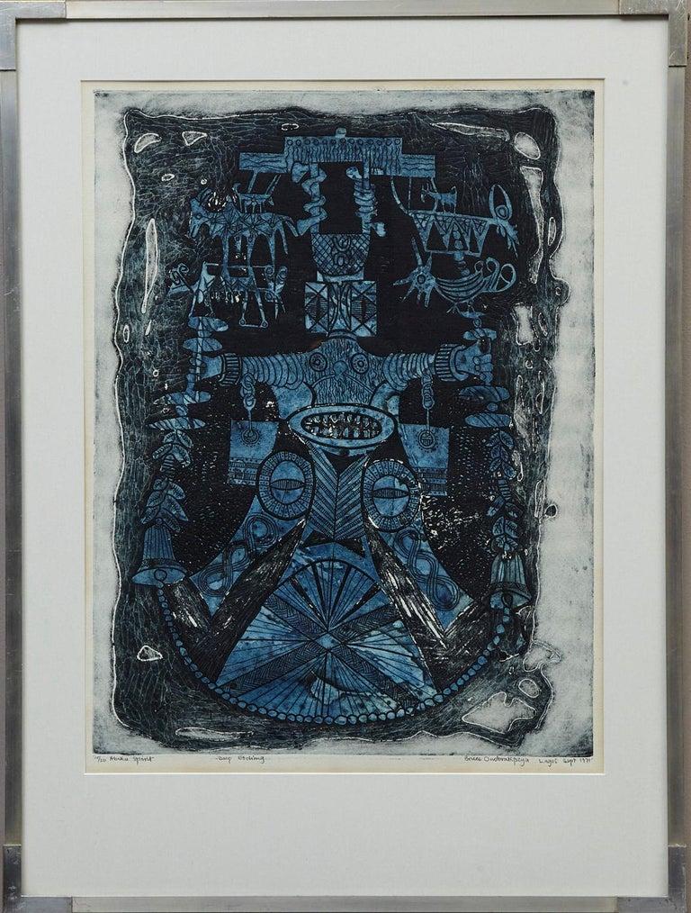 Bruce Onobrakpeya Figurative Print - Abiku Spirit