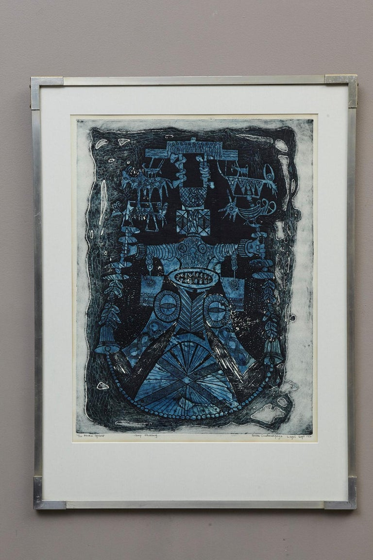 Abiku Spirit - Print by Bruce Onobrakpeya
