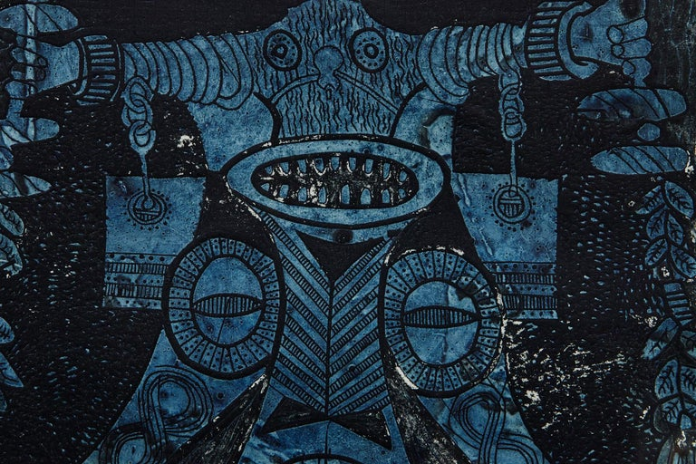 Bruce Onobrakpeya, Nigerian (1932) Abiku Spirit, Lagos, September 1971 Edition 10/20 Deep Etching, framed, signed, titled and numbered lower front left and right Dimensions: Frame H 32.75 x W 24.25 - sight 24.5 x W 18.5 inches The print has been