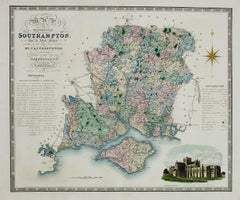England Map of the County of Southampton from an Actual Survey