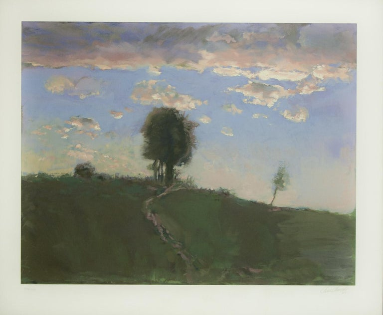 Chase Chen Landscape Print - Road to Horizon