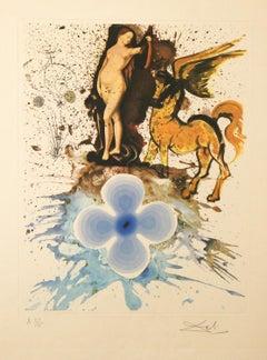Hommage a Cranach lithograph by Salvador Dali 1971