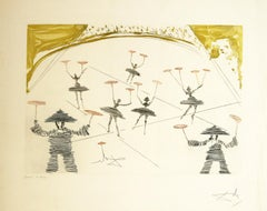 Chinois ( Theatre  Chinois ) etching by Salvador Dali
