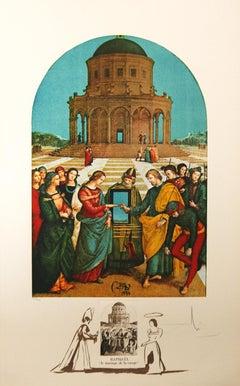 Le Marriage De La Vierge  from Raphael  by Salvador Dali