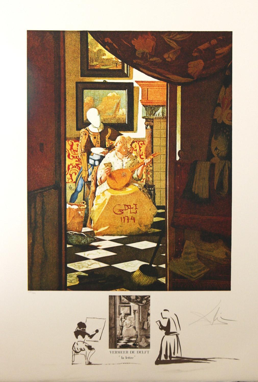 La Lettre from Vermeer by Salvador Dali