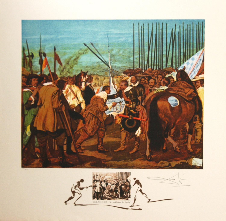 Velasquez Le Reddition De Breda by Salvador Dali 1974 lithograph