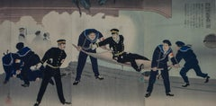 Struggle at Hatsusekan at Port Arthur ( Ryojun Ko ) Russo-Japanese war 1904